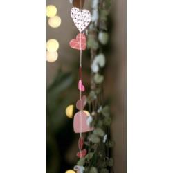 Guirlande Mini Cœur Rose