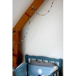 Guirlande mini-étoiles bleues